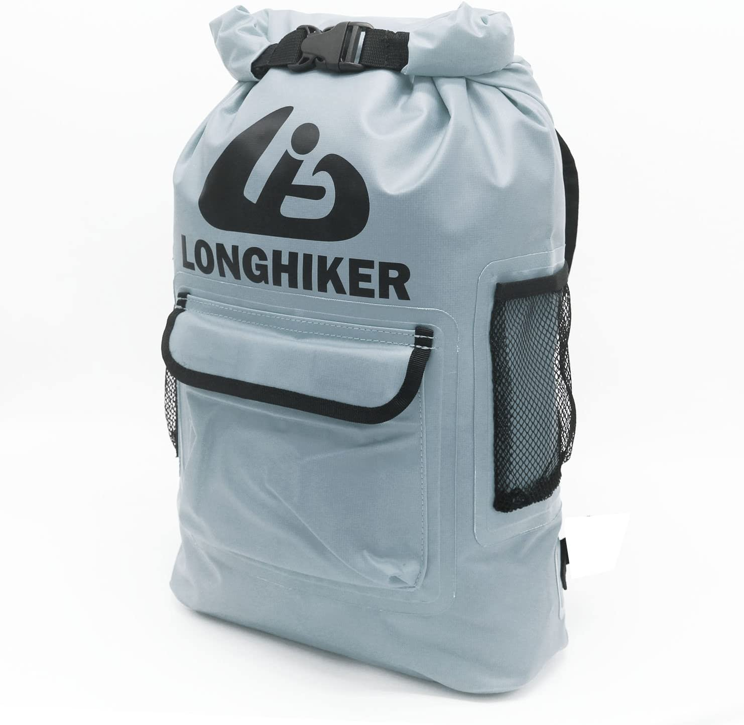 LONGHIKER Waterproof Backpack Dry Bags-Padded Shoulder Straps – Mesh Side Pockets-Easy Access Front Pocket