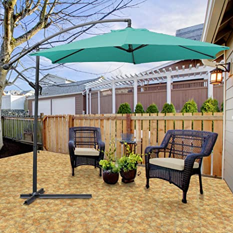 Hengda® Jardín Sombrilla Parasol Sombrilla de Terraz protección UV ...