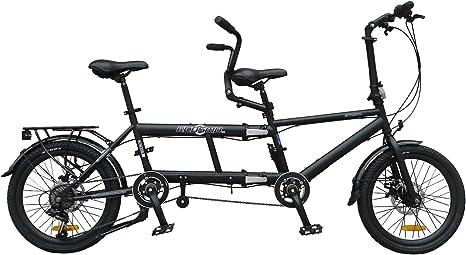 ECOSMO 50,8 cm nueva ciudad bicicleta plegable Tandem 7SP ...