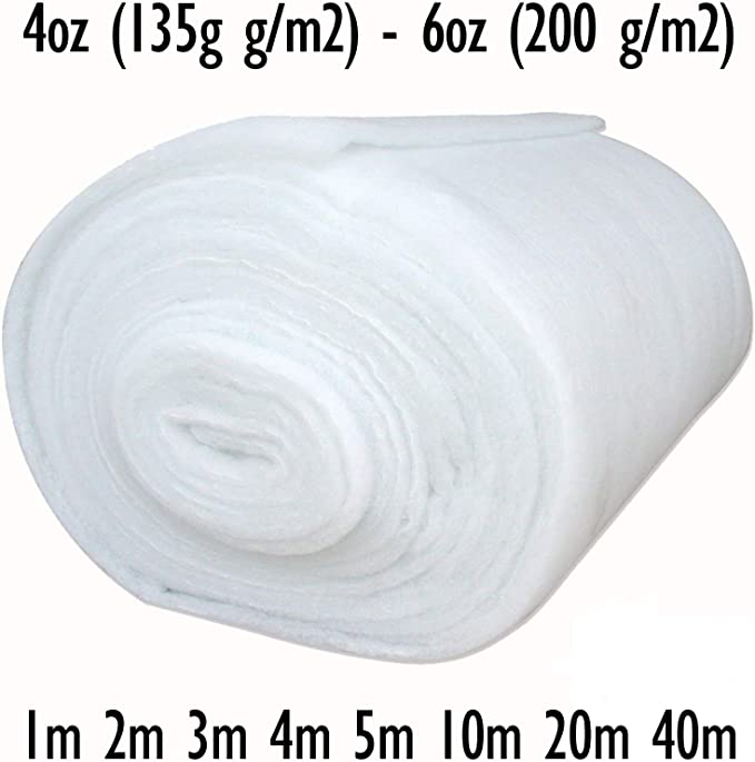 "5mtr POLYESTER WADDING 2oz 70 gram upholstery padding quilting batting 27/"" wide"