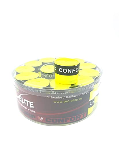 overgrips Pro Elite Confort Perforados. Bote de 30 unds.