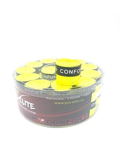 overgrips Pro Elite Confort Perforados. Bote de 30 unds. (Amarillo ...