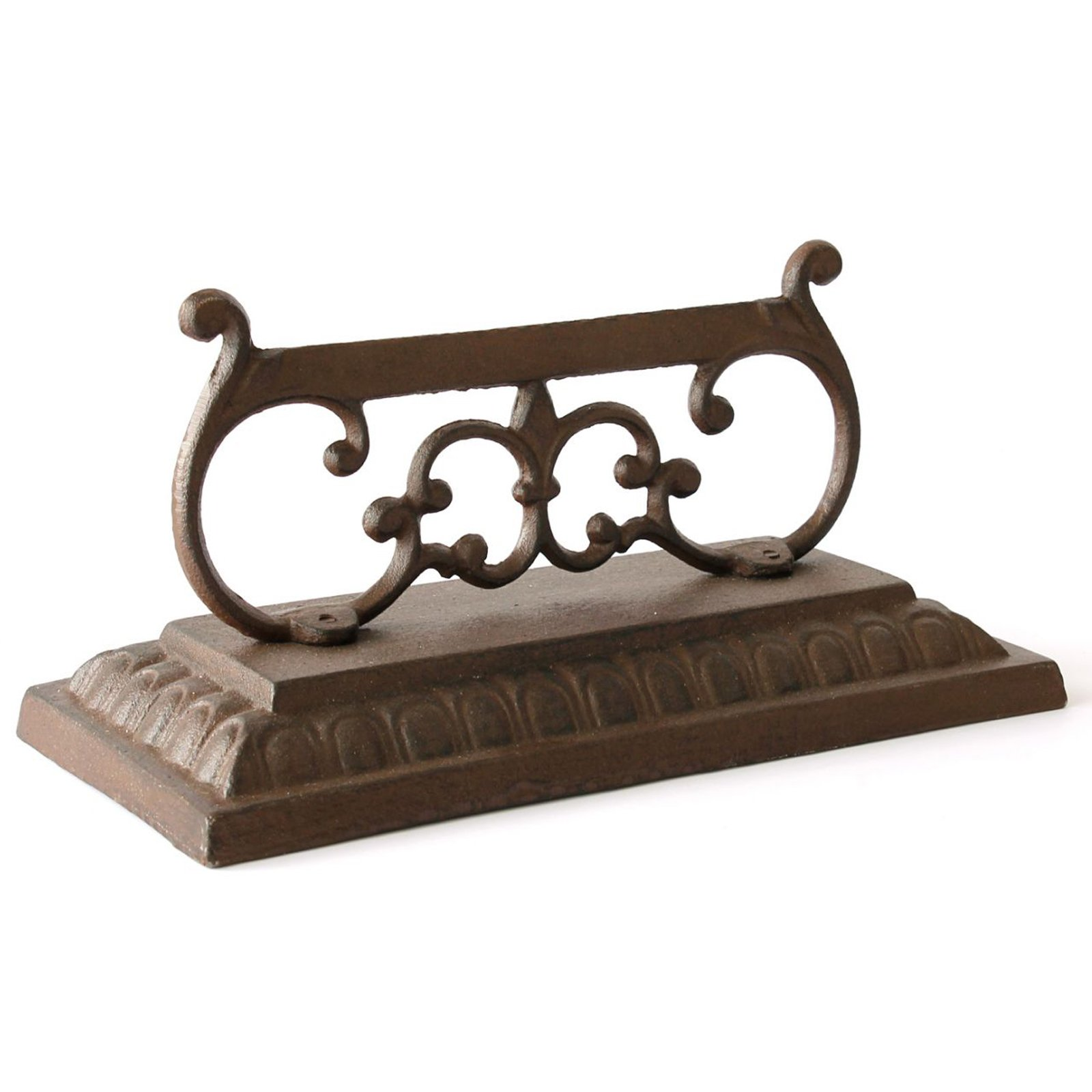 The Crabby Nook Mud Dirt Boot Scraper Ornate Cast Iron Outdoor Garden Decor