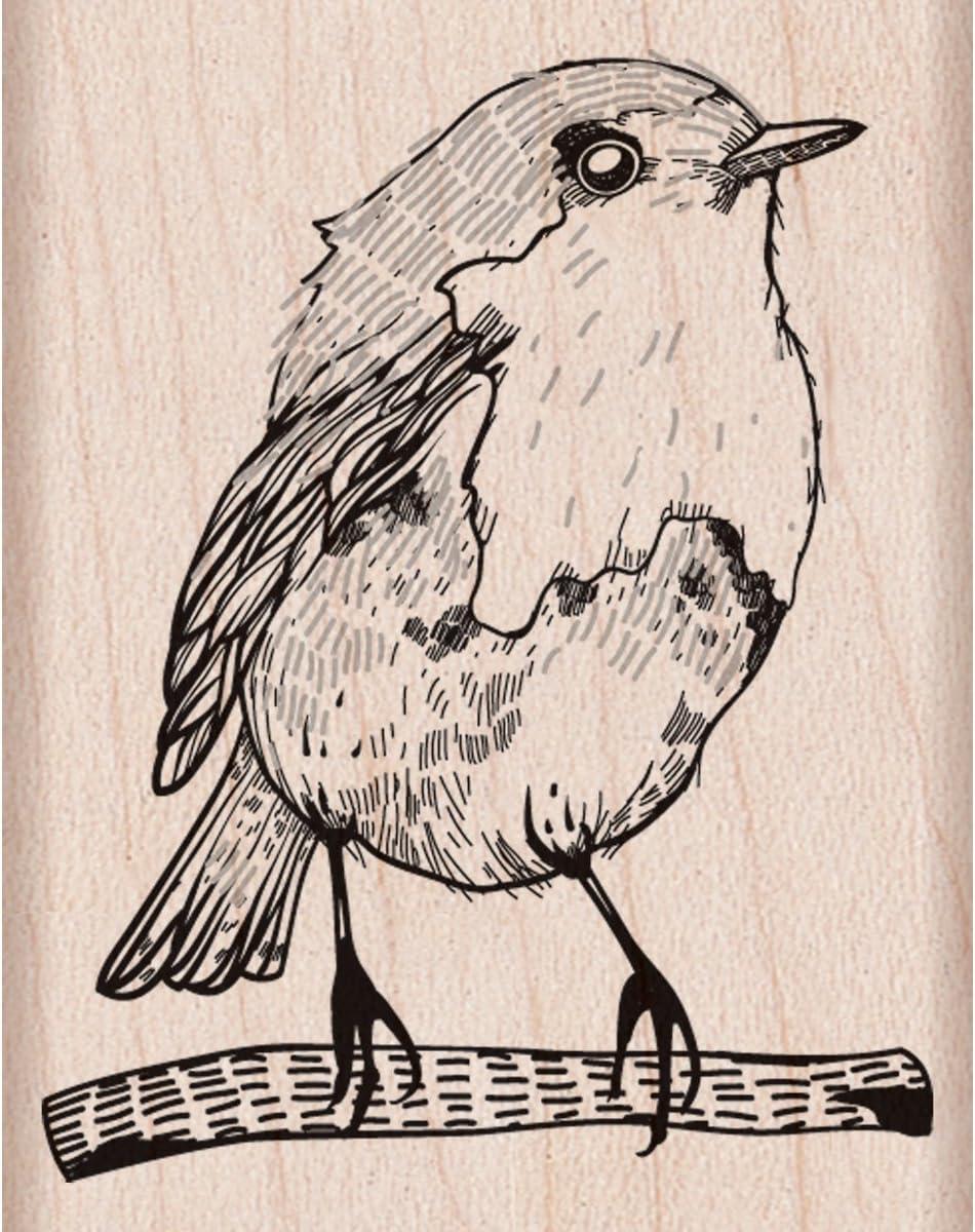 Hero Arts D5890 Woodblock Stamp, Bird