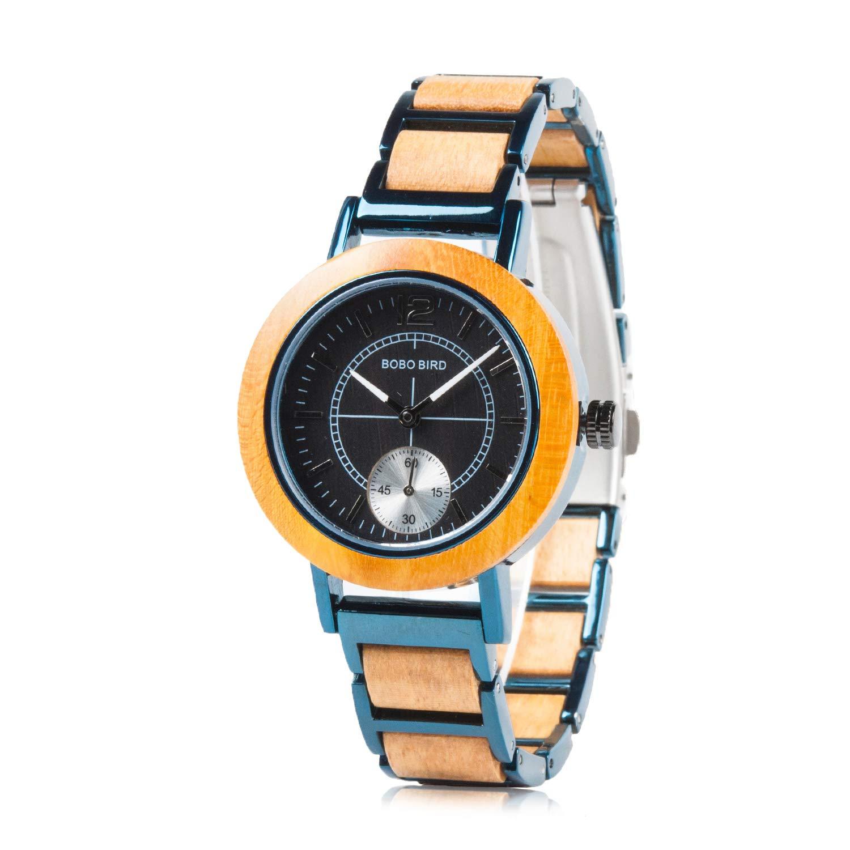 BOBO BIRD Womens Stylish Casual Wooden Watches Simply Fashion Quartz Wristwatches