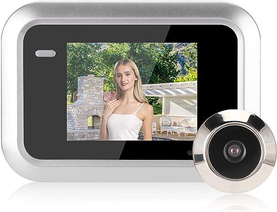 Visualizador de porta, olho mágico de porta, sistema de segurança doméstico de amplo ângulo com visor LCD, visor de porta, câmera, porta, visualizador de porta para escritório, casa
