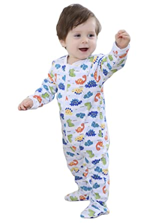 04518efbfd74 Baby Boys Girls Footed Pajama - Zip Front 100% Cotton Sleeper Size 3 ...