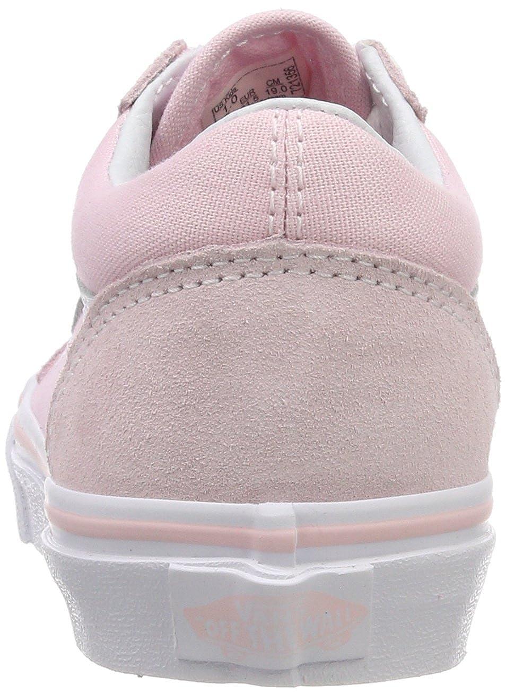 d84a8e63e Amazon.com   Vans Kids K Old Skool V Suede Canvas Chalk Pink White Size 5.5    Sneakers
