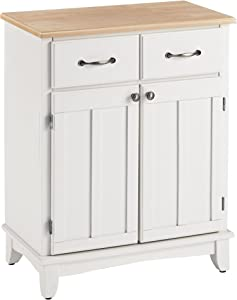 Buffet of Buffets White with Wood Top by Home Styles