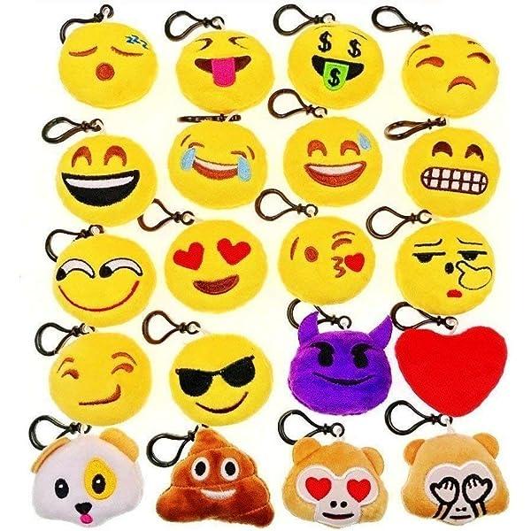JZK 20 x Mini Juguete de Peluche Emoji Llavero emoticonos ...