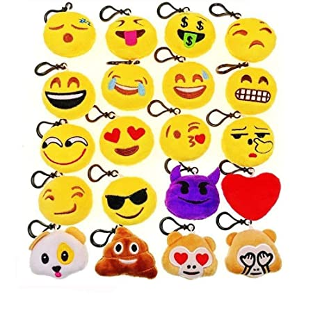 Jzk 20 Mini Spielzeug Aus Plusch 5 Cm Keychain Emoji Keyring Fur