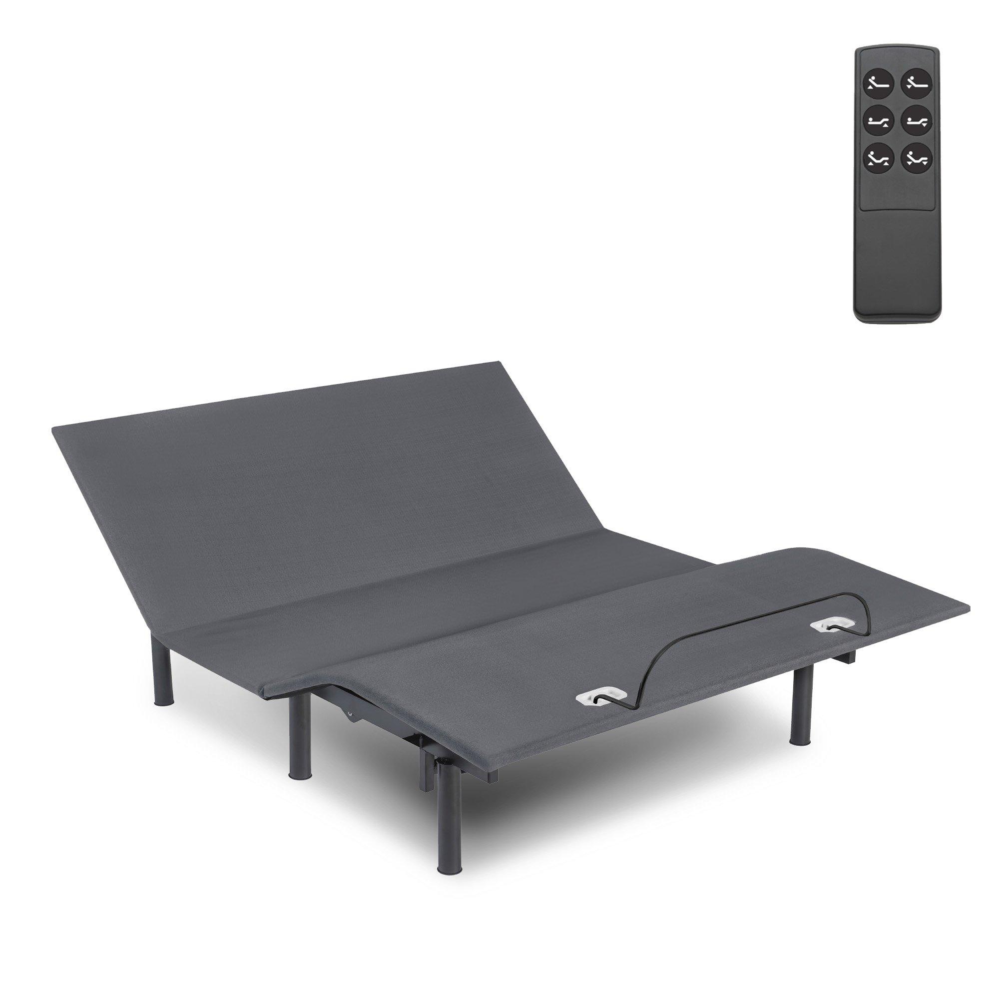 Fashion Bed Group 4X0060 Symmetry EZ Adjustable Base Bed, Twin XL, Dark Gray