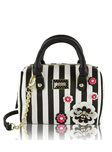 Amazon.com: Betsey Johnson 3-D Bee Mini Crossbody Satchel Bag ...