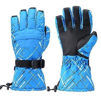 7b21cb07e0732 XBECO Gants De Ski Hommes Femmes Enfants, Hiver Chaud Imperméable  Coupe-Vent Sports De