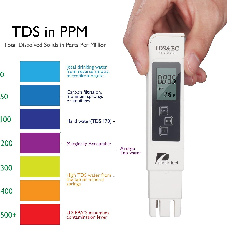 Lightswim Calidad del Agua Medidor de Prueba TDS PH CE Temperatura 4 en 1 Set