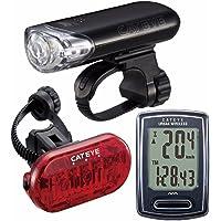 CatEye - Go Kit Wireless with HL-EL140 Headlight, Urban Wireless Cycle Computer, and Omni 3 Rear Bike Light