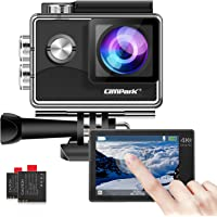 Campark X15 Action Camera 4K WiFi 16MP Touch Screen EIS Anti-shake Ultra Full HD Sport Cam 170 Degree Wide-Angle 30M…