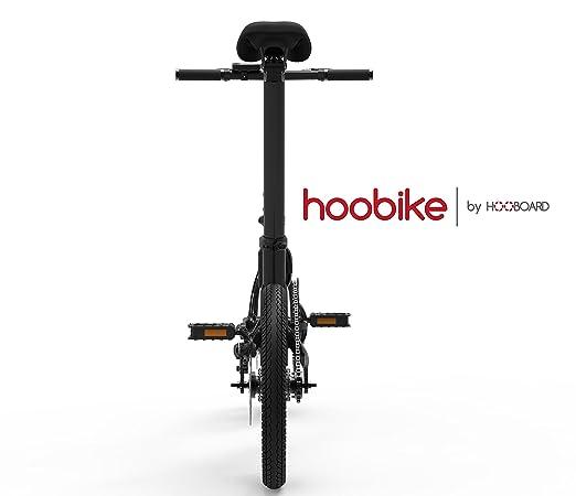 Hoobike Bicicleta Eléctrica Plegable, 250 W, batería de 36V, 5,2Ah, batería extraíble con certificación de iones de litio, 16