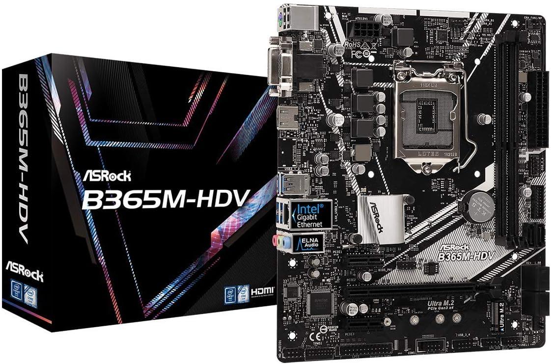 ASRock Intel B365 Chipset Motherboard B365M-HDV