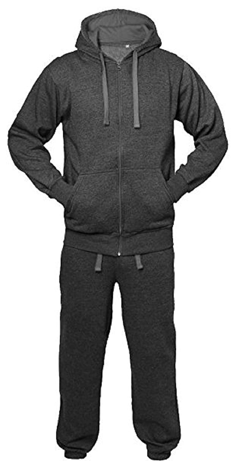 Kids Boys Girls Tracksuit Contrast Set Full Sleeve Zipper Hoodie Fleece Bottoms Top Jogging Jogger Gym School Clothing Just Me