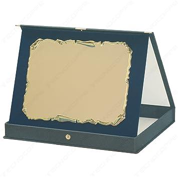 tecnocoppe Placa Pergamino de Aluminio con Estuche y ...