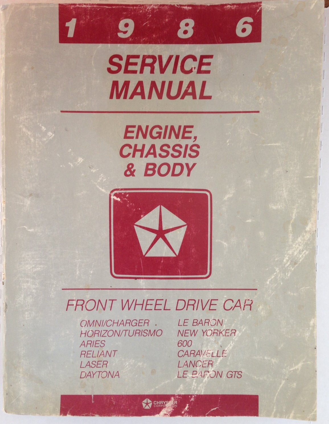 1985 chrysler lebaron repair manua