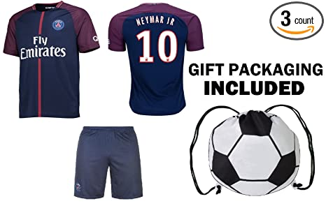 new style 98d6a e48bf Fan Kitbag Neymar Jr #10/ Cavani #9 PSG Soccer Jersey & Shorts Paris Saint  Germain Youth Kids Home/Away ✓ Premium Gift Set ✓ Included Soccer Ball ...