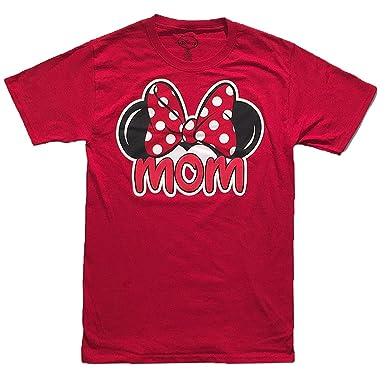 9e4003fdf Minnie Mouse Mom Unisex Tee Shirt Large Red: Amazon.co.uk: Clothing