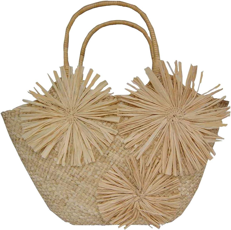 Damentasche Shopper Damen Bast Tasche Basttasche Strohtasche Strandtasche·