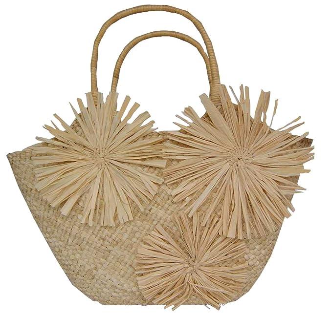 Mujer Bolso (Mujer Bolso rafia de paja funda bolsa de playa ...