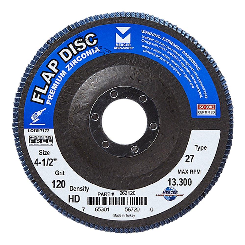 Mercer Industries 262120 Zirconia Flap Disc, High