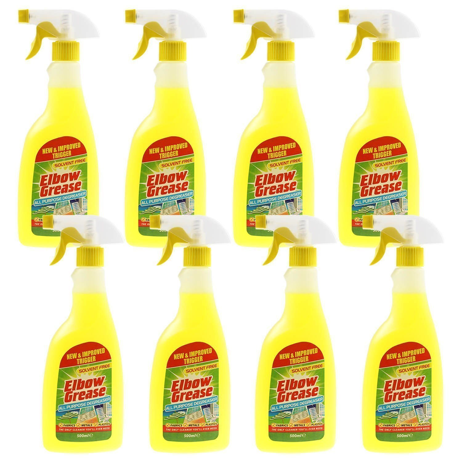 8 X Elbow Greese 500ml All Purpose De-Greaser