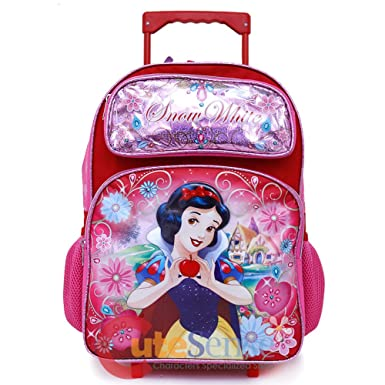 8d3205e236d3 Image Unavailable. Image not available for. Color  2018 Princess Snow White  School Backpack 16 quot  Roller Large Girls ...