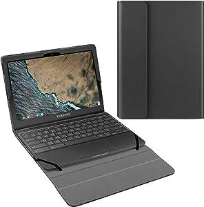 "Fintie Sleeve Case for 11.6"" Samsung Chromebook 4 XE310XBA - Premium PU Leather Protective Portfolio Book Cover Compatible with Samsung Chromebook 3 XE500C13 & Chromebook 2 XE503C12/XE500C12, Black"