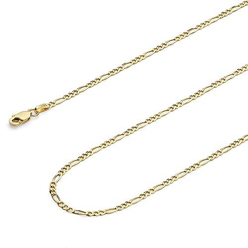 Amazon.com: Wellingsale - Collar con cadena de oro amarillo ...