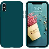 iPhone Xs Case,iPhone X Case,DUEDUE Liquid Silicone Soft Gel Rubber Slim Cover with Microfiber Cloth Lining Cushion Shockproo
