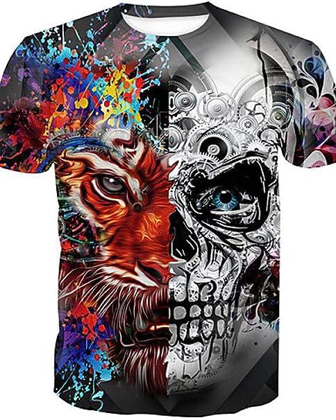 Yisj Camisetas para Hombre 3D Camiseta Diaria básica de algodón ...