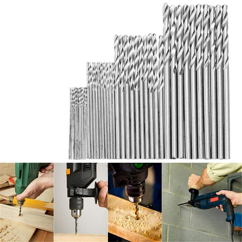 Size : 30pcs Portable Multifunction Precision Hand Drill Set 16//25//28//30//40Pcs High Speed Steel Metric Twist Drilling Drill Bits Set 0.5-3mm Drill Bit Sets for Metal and Wood,Manual Work DIY