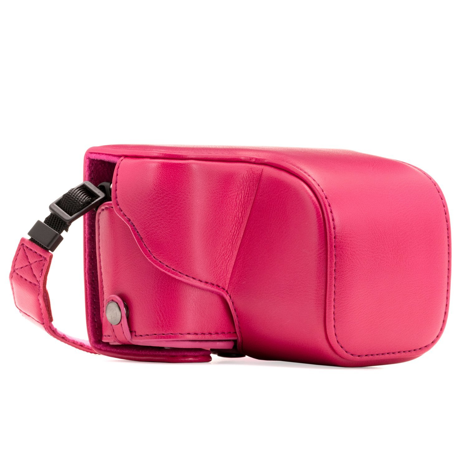 MegaGear Sony Alpha A6300, A6000 (16 50 mm) Ever Ready Leather Camera Case with Strap Hot Pink MG1145