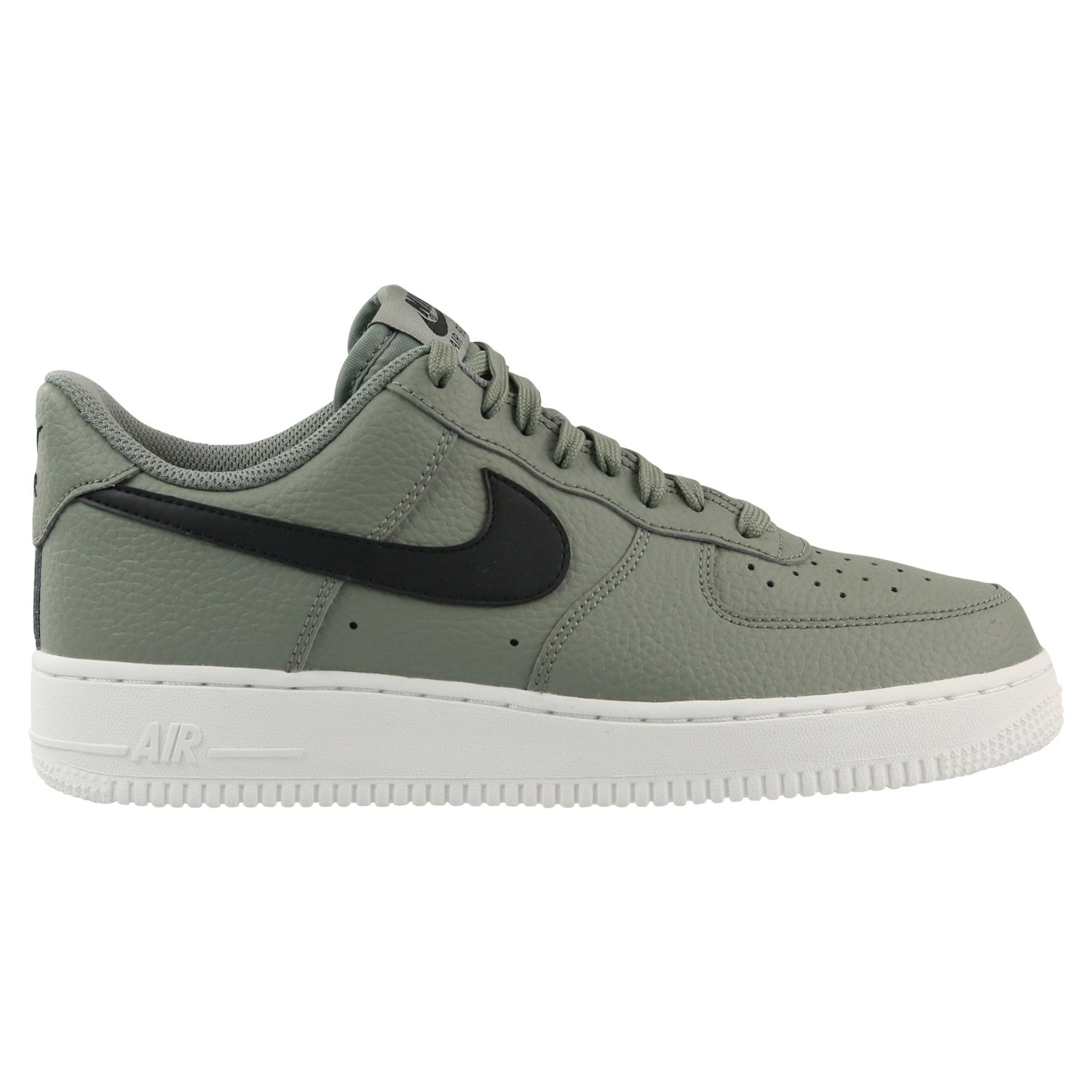 NIKE Men's Air Force 1 Low Dark StuccoBlackSummit White Leather Casual Shoes 7.5 D(M) US