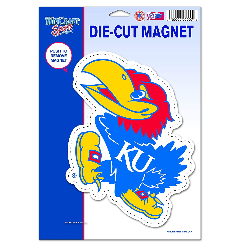 Wincraft NCAA University of Kansas 64954011 Die Cut Logo Magnet Black Small