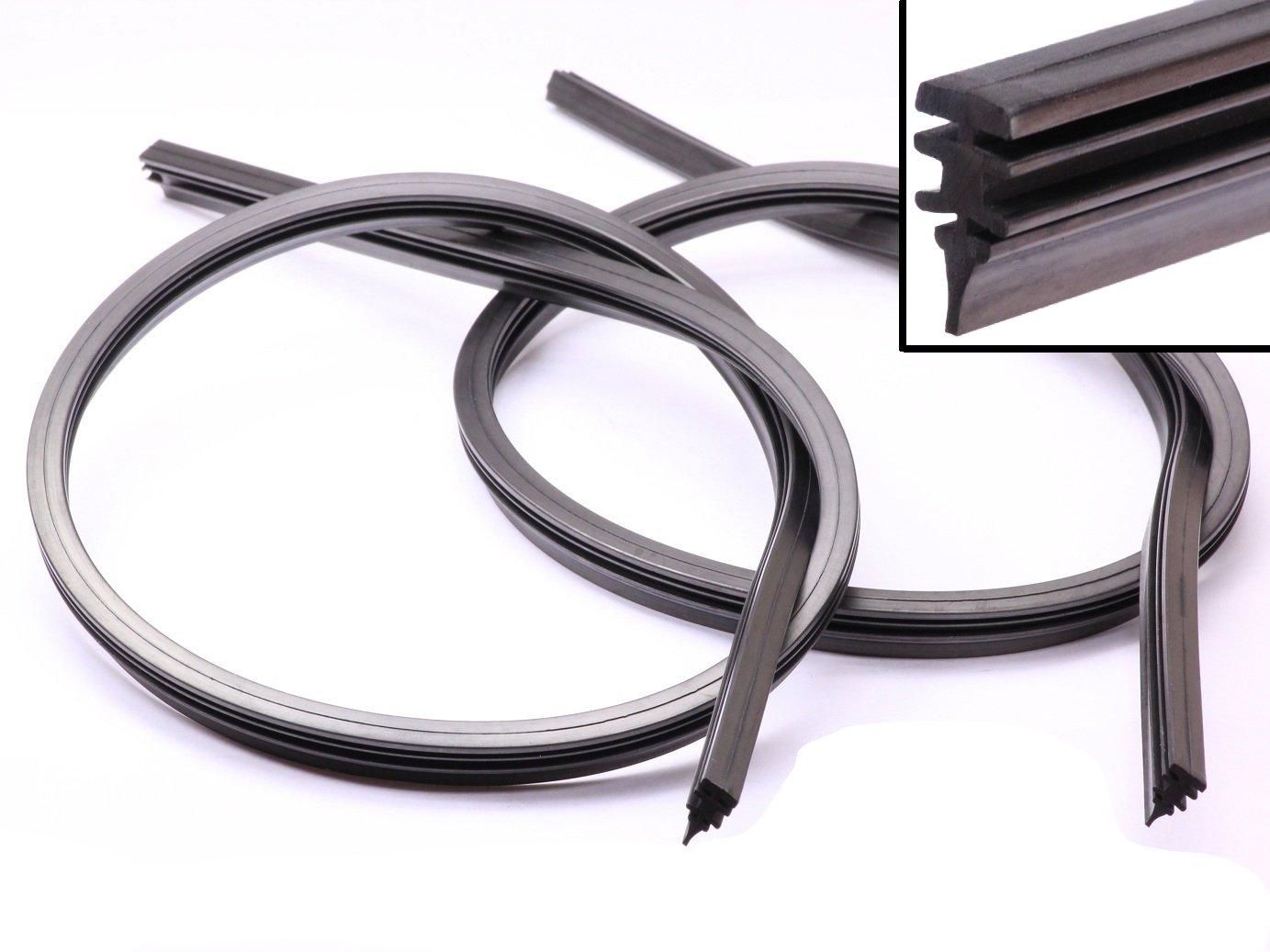 Handycop® 2 x 700mm Ersatz Gummi für Bosch Aerotwin Scheibenwischer 70cm Wischergummi Neu Handycop®