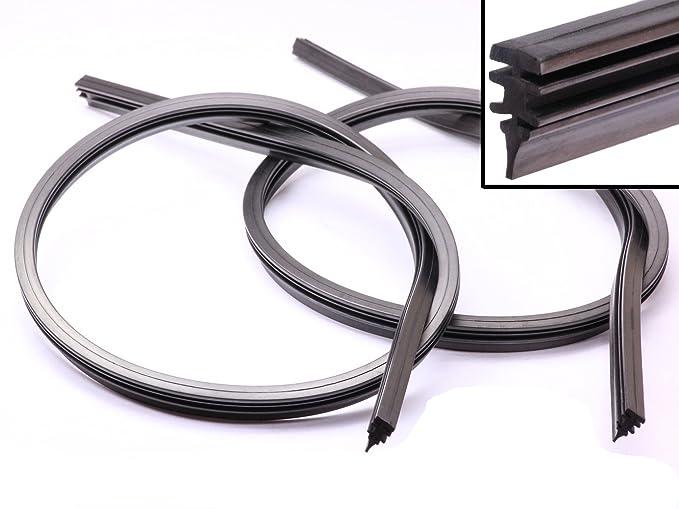 Handycop 2 x 700 mm goma de recambio para automóvil limpiaparabrisas de 70 cm goma,