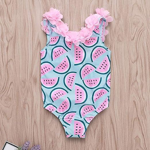 69100357aed2 bañador de Flor de una Pieza para niña bebé 0 a 4 años, Trajes de baño de  Volantes bañador de niñas Bebes: Amazon.es: Ropa y accesorios