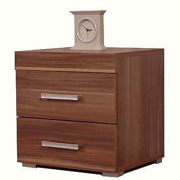 Excellent Dp 2 Drawer Bedside Cabinet Walnut Effect Bedroom Furniture Brown Home Interior And Landscaping Ponolsignezvosmurscom