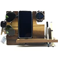 VAH Wooden Laminat All Type of Mobile Docking Station, Works with All Mobile Models Watch,Key,Pen etc…