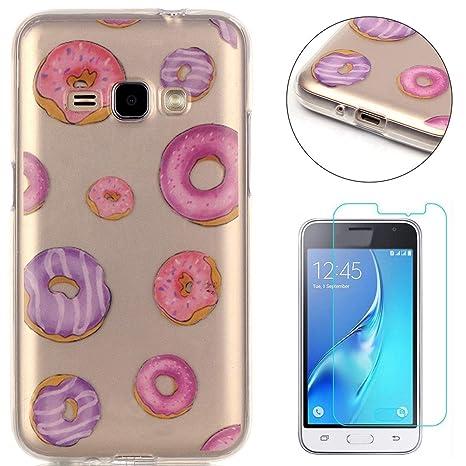 Compatible For Samsung Galaxy J1 2016/J120 Silicone Gel Funda Silicona Carcasa Suave TPU Protectora Cubiertas Cubierta De La Caja De Silicona ...