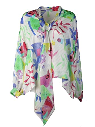 4f393d4c21d23 Image Unavailable. Image not available for. Color  Balenciaga Women s  482308Tdla39000 Multicolor Silk Blouse