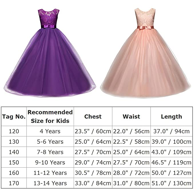 Amazon.com: Yaphyee Flower Girl Kid Princess Long Pageant Formal Wedding Bridesmaid Party Maxi Dress: Clothing