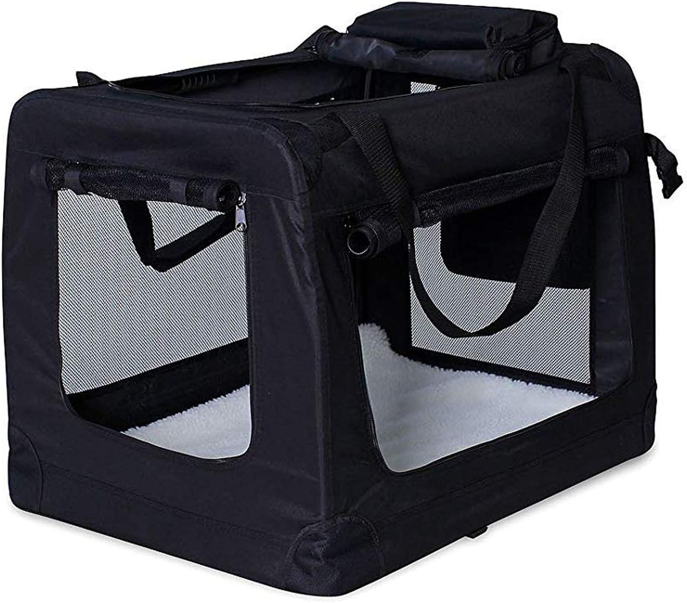 dibea TB10024 Bolsa de Transporte para Perros y Gatos Negro, 90x61x65 cm XXL